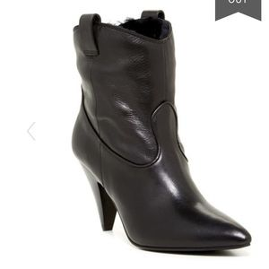 ❗️Sigerson Morrison Leather Black Bootie NEW $550